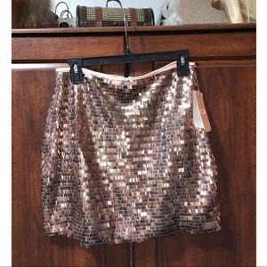 BNWT Rose gold sequin Gianni Bini skirt sz. M